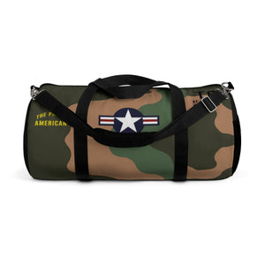 "Douglas A-1 Skyraider ""The Proud American"" Duffel Bag - I Love a Hangar"