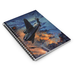 Night Bombing Operations Inspired Spiral Notebook - I Love a Hangar