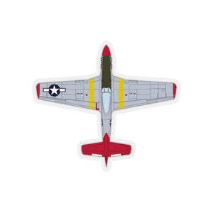 "P-51 ""Bunny"" Top View Inspired Inspired Kiss-Cut Stickers - I Love a Hangar"