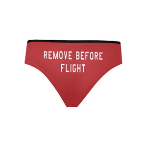 Remove Before Flight Women's Hipster Briefs - I Love a Hangar