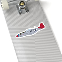 "Load image into Gallery viewer, P-51 ""Tall In The Saddle"" Side View Inspired Kiss-Cut Stickers - I Love a Hangar"