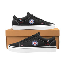 "Load image into Gallery viewer, ""Black Arrows"" Hawker Hunter XG194 Men's Lace-Up Canvas Shoes - I Love a Hangar"