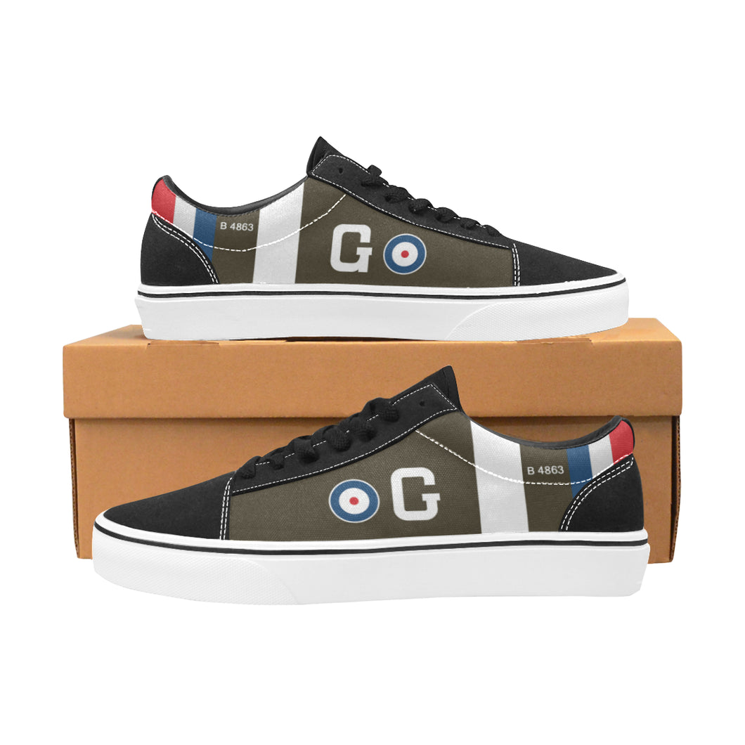 RAF S.E.5 of Major James McCudden Women's Lace-Up Canvas Shoes - I Love a Hangar