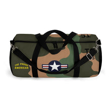 "Load image into Gallery viewer, Douglas A-1 Skyraider ""The Proud American"" Duffel Bag - I Love a Hangar"