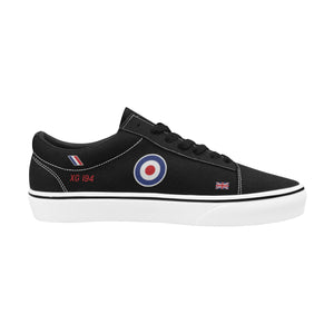 """Black Arrows"" Hawker Hunter XG194 Men's Lace-Up Canvas Shoes - I Love a Hangar"