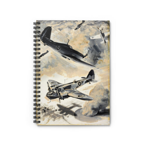 Fighter Escort Inspired Spiral Notebook - I Love a Hangar