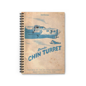 Bendix Chin Turret Manual Inspired Spiral Notebook - I Love a Hangar