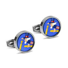 Load image into Gallery viewer, 322nd BS 91st Bomb Group Insignia Cufflinks - I Love a Hangar