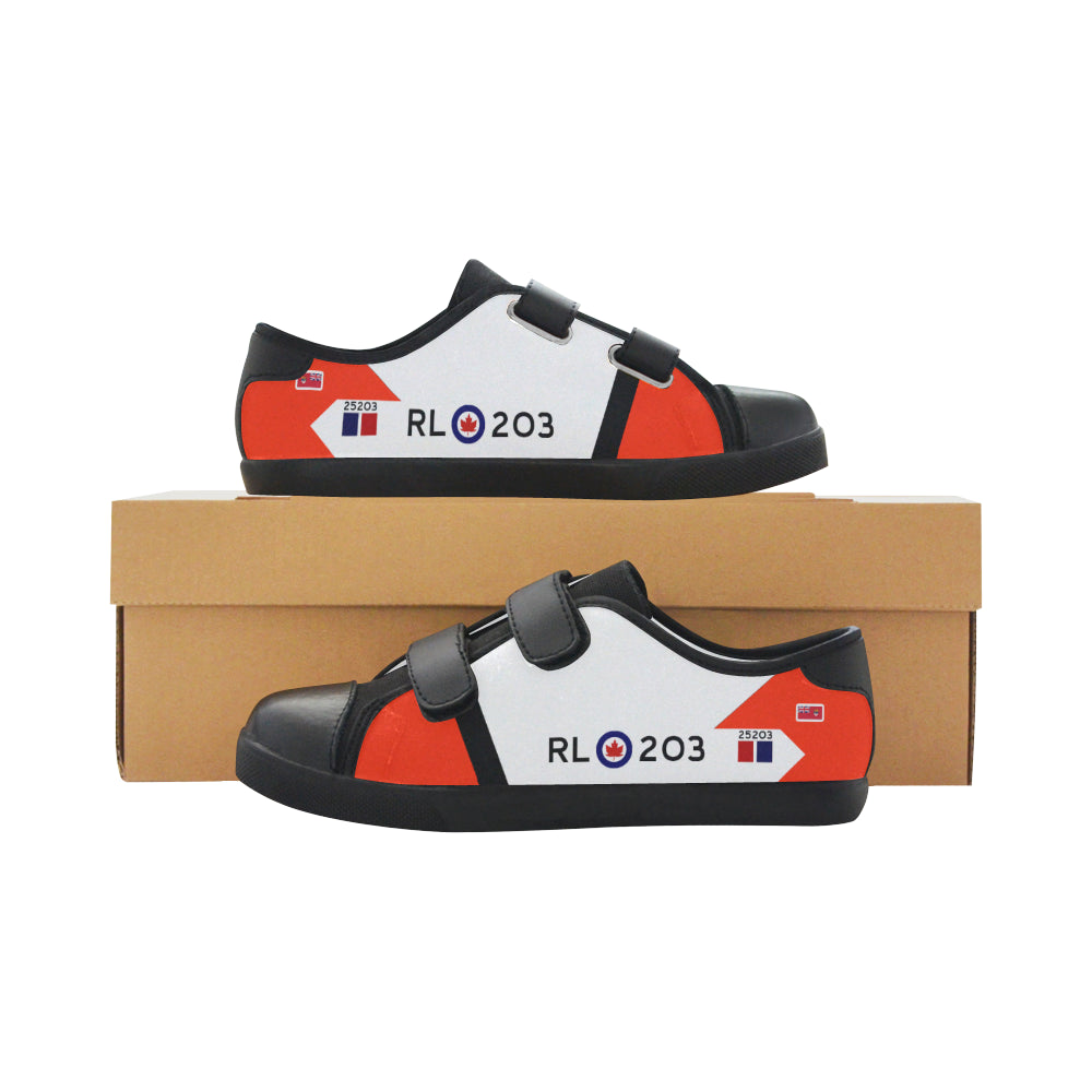 RCAF Avro Canada CF-105 Arrow Inspired Kid's Velcro Canvas Shoes - I Love a Hangar