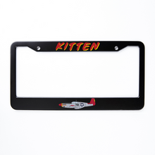 "Load image into Gallery viewer, P-51 ""Kitten"" Inspired License Plate Frame - I Love a Hangar"