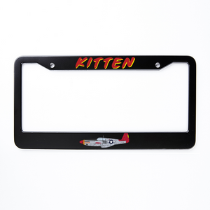 "P-51 ""Kitten"" Inspired License Plate Frame - I Love a Hangar"