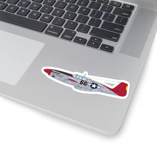 "Load image into Gallery viewer, P-51 ""By ReQuest"" Side View Inspired Kiss-Cut Stickers - I Love a Hangar"