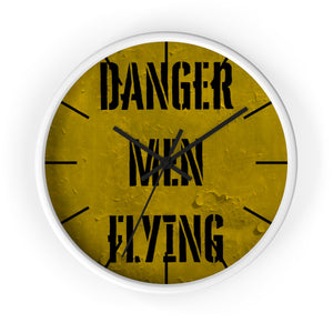 Danger Men Flying Wall Clock - I Love a Hangar
