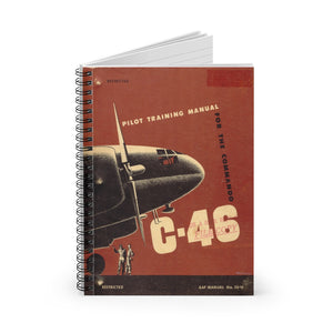 "C-46 ""Commando"" Inspired Spiral Notebook - I Love a Hangar"