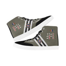 "Load image into Gallery viewer, C-47 ""Kwicherbichen"" Men's Hi-Top Trainers - I Love a Hangar"