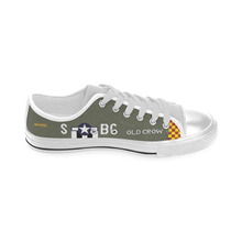 "Load image into Gallery viewer, P-51 ""Old Crow"" Inspired Kid's Low Top Canvas Shoes - I Love a Hangar"