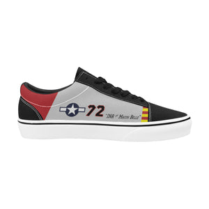"P-51C ""Ina The Macon Belle"" of Lt.Col. Lee Archer Jr Women's Lace-Up Canvas Shoes - I Love a Hangar"