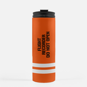 Flight Data Recorder Inspired Thermal Tumbler (16 Oz.) - I Love a Hangar