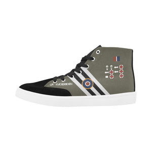 "C-47 ""Kwicherbichen"" Men's Hi-Top Trainers - I Love a Hangar"