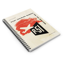 "Load image into Gallery viewer, P-51 ""Mustang"" Inspired Spiral Notebook - I Love a Hangar"