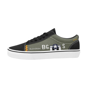 "P-51 ""Old Crow"" Women's Lace-Up Canvas Shoes - I Love a Hangar"