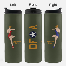 "Load image into Gallery viewer, B-17 ""Memphis Belle"" Inspired Thermal Tumbler (16 Oz.) - I Love a Hangar"