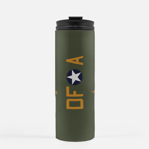 "B-17 ""Memphis Belle"" Inspired Thermal Tumbler (16 Oz.) - I Love a Hangar"