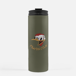 "B-26 ""Fightin' Cock"" Inspired Thermal Tumbler (16 Oz.) - I Love a Hangar"