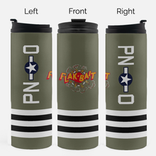 "Load image into Gallery viewer, B-26 ""Flak-Bait"" Inspired Thermal Tumbler (16 Oz.) - I Love a Hangar"