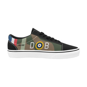 Spitfire Mk.VA of Douglas Bader Women's Lace-Up Canvas Shoes - I Love a Hangar