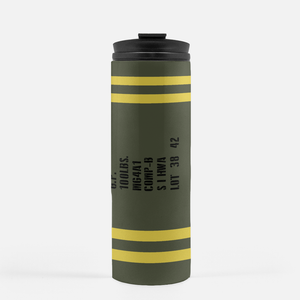 General Purpose WWII 100lbs Bomb Inspired Thermal Tumbler (16 Oz.) - I Love a Hangar