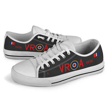 Load image into Gallery viewer, Lancaster VR-A Inspired Women's Low Top Canvas Shoes (Black) - I Love a Hangar