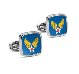 USAAF Shoulder Sleeve Insignia Cufflinks - I Love a Hangar