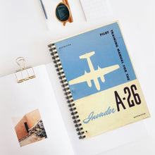 "Load image into Gallery viewer, A-26 ""Invader"" Inspired Spiral Notebook"