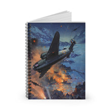 Load image into Gallery viewer, Night Bombing Operations Inspired Spiral Notebook