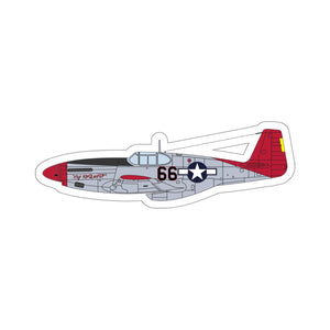 "P-51 ""By ReQuest"" Side View Inspired Kiss-Cut Stickers - I Love a Hangar"