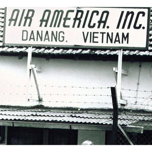 """Air America Inc."" Metal Sign 16in x 12in  (Distressed Appearance) - I Love a Hangar"