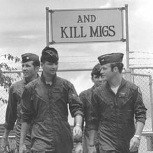 "Load image into Gallery viewer, ""And Kill Migs"" Metal Sign 16inx12in - I Love a Hangar"