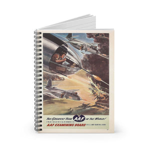 """The Greatest Team In The World"" Inspired Spiral Notebook - I Love a Hangar"