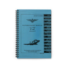 Load image into Gallery viewer, F-4J NATOPS Inspired Spiral Notebook - I Love a Hangar