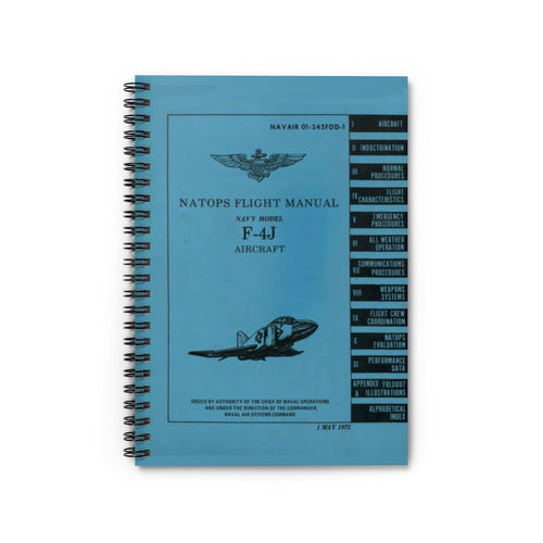 F-4J NATOPS Inspired Spiral Notebook - I Love a Hangar
