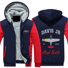 "Load image into Gallery viewer, P-51 ""By ReQuest"" Sherpa Lined Full Zip Hoodie - I Love a Hangar"