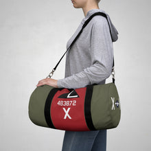 "Load image into Gallery viewer, B-17G ""Texas Raiders"" Inspired Duffel Bag - I Love a Hangar"
