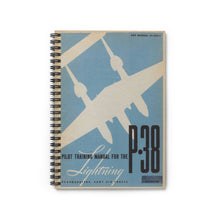 "Load image into Gallery viewer, P-38 ""Lightning"" Inspired Spiral Notebook - I Love a Hangar"