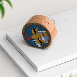 91st Bomb Group A60 Wireless Speaker Wireless Wood Grain Bluetooth Speaker Bluetooth Audio Subwoofer Gift - I Love a Hangar