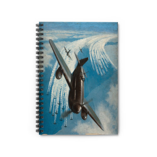Bomber Group Contrails Inspired Spiral Notebook - I Love a Hangar