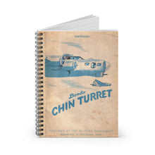 Load image into Gallery viewer, Bendix Chin Turret Manual Inspired Spiral Notebook - I Love a Hangar