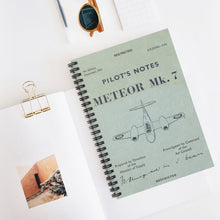 "Load image into Gallery viewer, Gloster ""Meteor"" Inspired Spiral Notebook - I Love a Hangar"