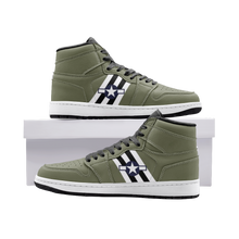 Load image into Gallery viewer, C-47 with Invasion Stripes Inspired Men's High Top Sneakers - I Love a Hangar