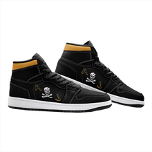 "Load image into Gallery viewer, VF-84 ""Jolly Rogers"" Inspired Women's High Top Sneakers - I Love a Hangar"